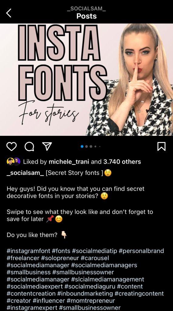 Didascalia completa - Instagram @_socialsam_
