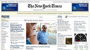 Sito web responsive del New York Times