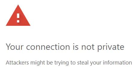 "Digitare direttamente ""thisisunsafe"" su Chrome"