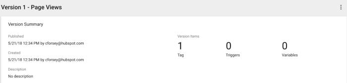 Ora hai creato il tuo primo tag!