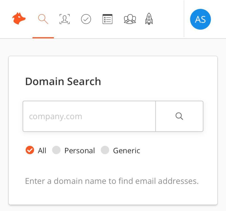 In Domain Search puoi cercare il proprietario di un dominio