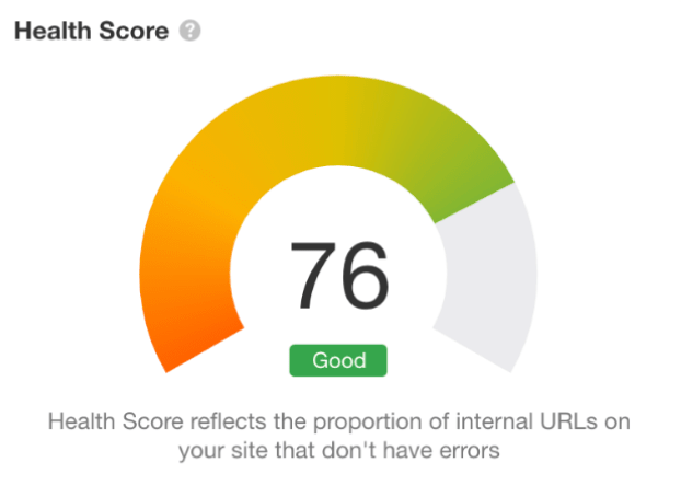 Cos'é il punteggio salute?