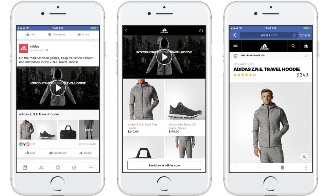 Vetrina interattiva Instant Experience di Facebook